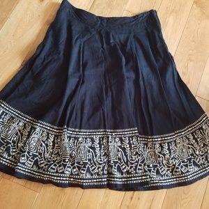 Twenty One India Elephants Skirt